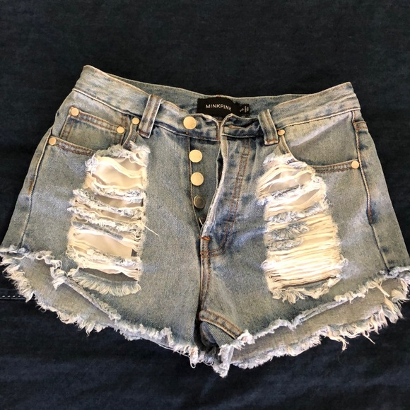 MINKPINK Pants - MINKPINK Slasher Shorts